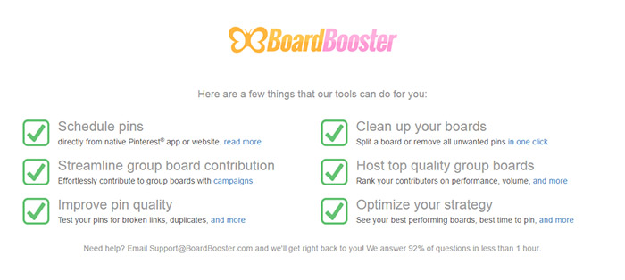 Get the most out of Pinterest with Boardbooster. Maximize your traffic and grow your audience.