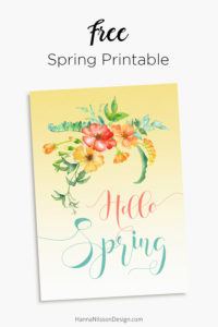 Hello spring printable wall art - spring home decor