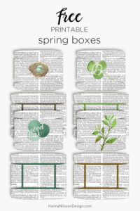 PRINTABLE Spring boxes - for gifts, treats, favors and more. Download for FREE