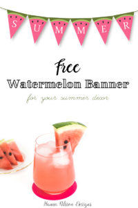 Free printable watermelon banner.
