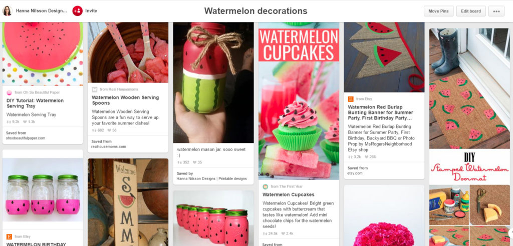 Watermelon decorations and crafts inspirational Pinterest board