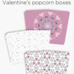 Valentine's Day printables – tags, popcorn boxes + giftcard holders