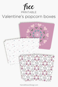 Valentine's Day printables - tags, popcorn boxes + giftcard holders