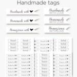 Homemade, handmade and homegrown –  with love tags