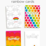 Rainbow cards and tags – printables to celebrate just about everything