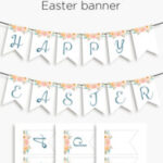 Happy Easter- printable banner for your spring decor