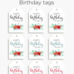 Printable Floral birthday – cards, tags & gift box