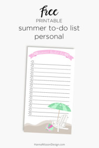 Summer bucket list | Printable to-do list for summer | planner checklist | A5 and personal size |