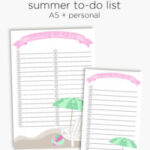 Summer bucket list | Printable to-do list for summer