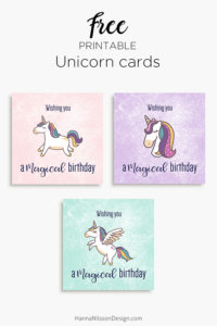 Magical unicorn birthday cards | free printable | download | greeting cards |