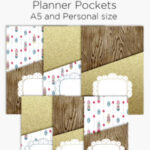 Add storage to you planner with printable planner pockets in A5 and Personal size