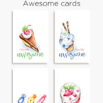 You're awesome | Printable cards