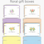 Floral boxes | Printable summer gift boxes