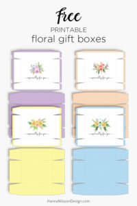 Printable summer floral boxes | Free download | treat boxes | gift boxes | favor boxes |