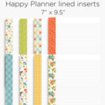 Lined planner inserts | Happy Planner + A5 & Personal size Printables