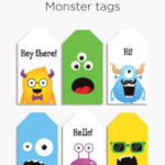 Free printable Monster tags