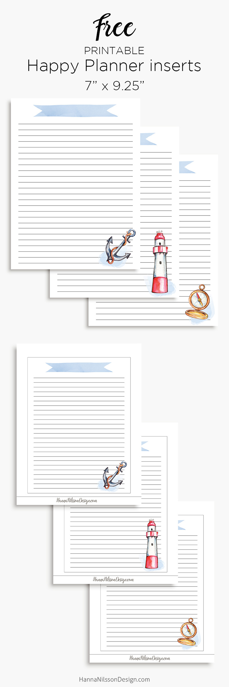 graphic relating to Free Happy Planner Inserts named Nautical planner increase A5 Pleased planner printable lists
