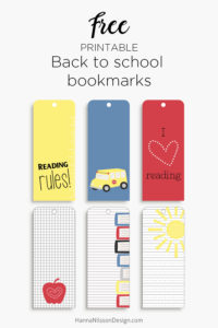 school bookmarks | back to school | free printable | pdf download |