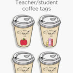 Take away coffee tags for teachers and students