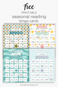 Reading Bingo cards | free printable | seasonal reading motivation for kids | homeschool | learn to read |