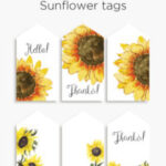 Sunflower tags | Late summer gift tags