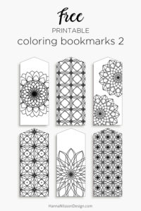 Printable coloring bookmarks | free download | print and color anyway you like | kids' crafts | #papercraft #freeprintable #kids #kidsactivities #coloring