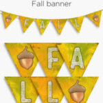 Fall banner | free printable home decor