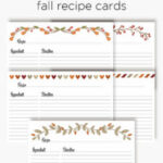 Fall recipe cards | organize your recipes with free printable recipe cards