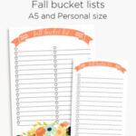 Fall bucket list planner insert | A5 and personal planner printable