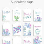 Printable succulent tags