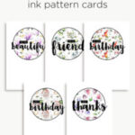 Ink cards | Printables for Birthdays, Friends & Thanks