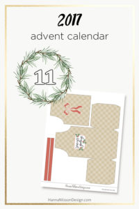 Download a new free Christmas printable every day December 1st to 24th | ADVENT CALENDAR | #christmasprintables #adventcalendar #planner #cards #tags #giftboxes and more.