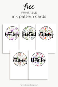 Ink greeting cards | Free Printable cards | thanks, birthday, friend | #freeprintables #cards #printables #coloring #birthday