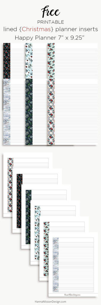Christmas planner list inserts   Happy planner, A5 and Personal size   #planners #printables #christmas #freeprintables #plannerprintables