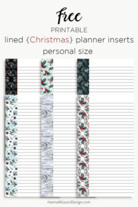 Christmas planner list inserts | Happy planner, A5 and Personal size | #planners #printables #christmas #freeprintables #plannerprintables