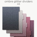 Ombre glitter planner dividers