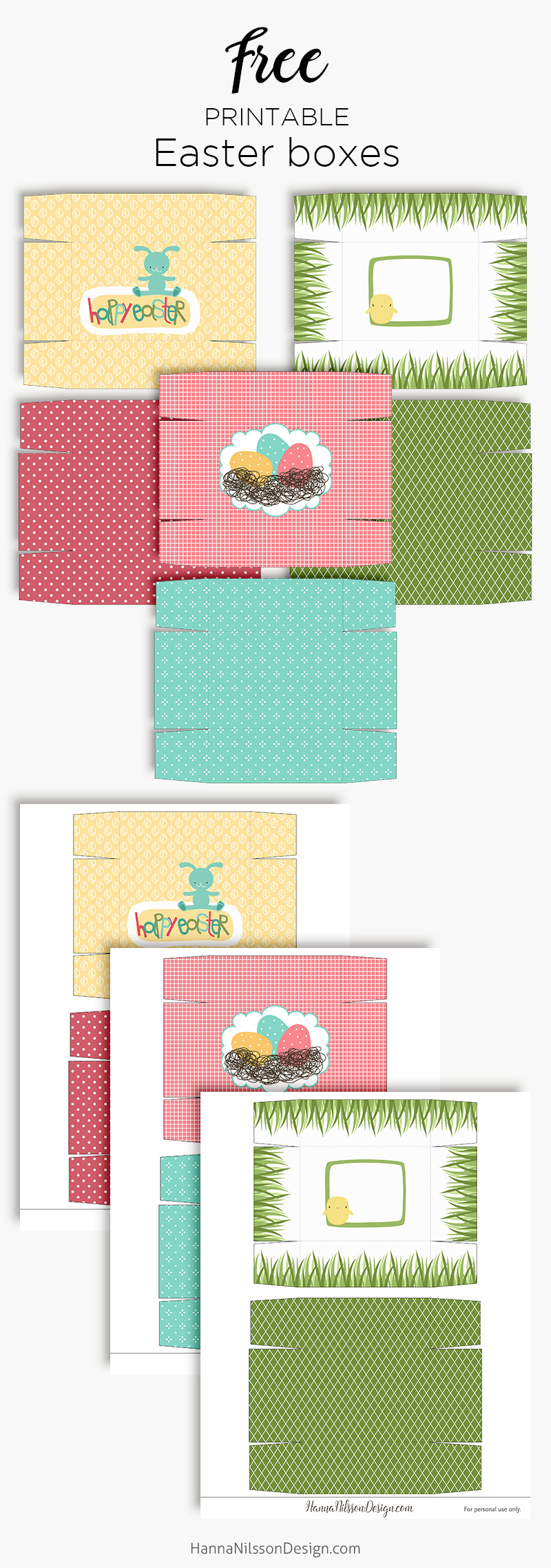 Easter gift boxes printable spring treat boxes hanna nilsson easter gift boxes printable spring treat boxes easter spring printable negle Image collections