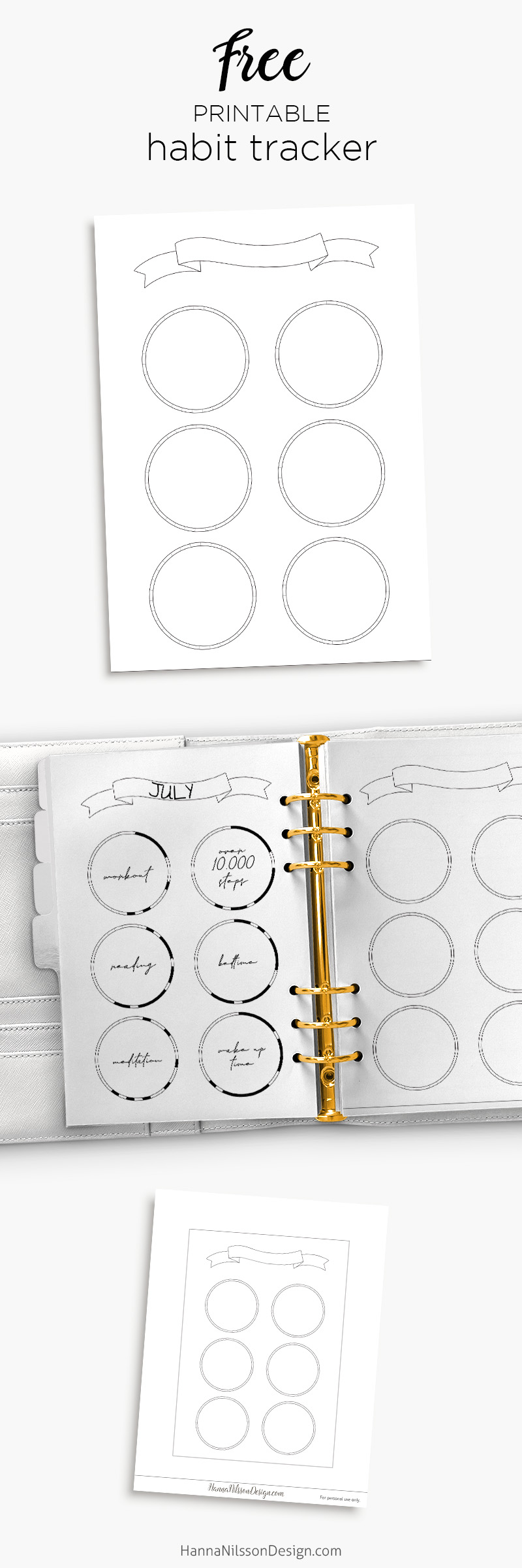 image relating to Free Printable Habit Tracker identify Cost-free printable pattern tracker with banner for your planner
