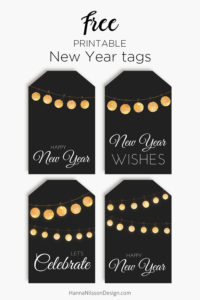 Happy New Year tags | Print some free New year celebration gift tags | #printable #freeprintables #newyear #tags #celebration #gift